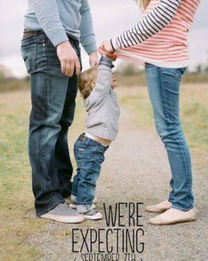 Zwangerschapsaankondiging tweede zwangerschap